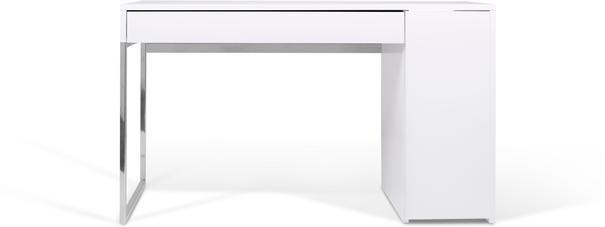 TemaHome Prado Minimalist Office Desk - Matt White Finish