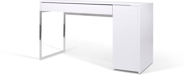 TemaHome Prado Minimalist Office Desk - Matt White Finish image 3