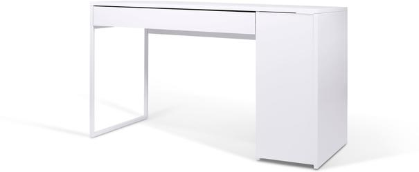 TemaHome Prado Minimalist Office Desk - Matt White Finish image 4