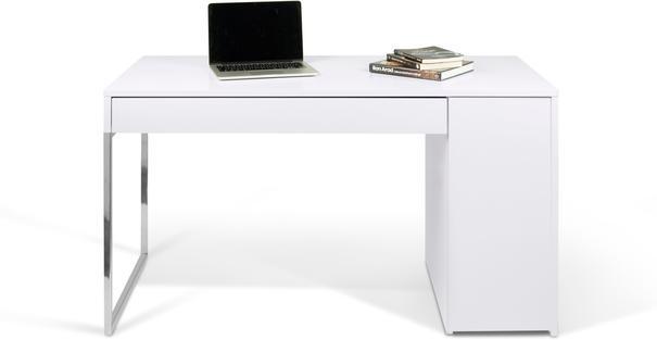 TemaHome Prado Minimalist Office Desk - Matt White Finish image 5