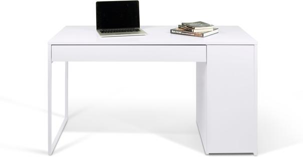 TemaHome Prado Minimalist Office Desk - Matt White Finish image 6