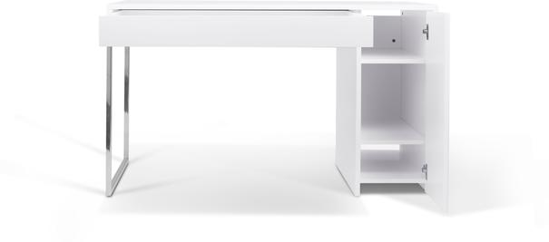 TemaHome Prado Minimalist Office Desk - Matt White Finish image 8