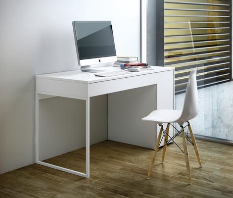 TemaHome Prado Minimalist Office Desk - Matt White Finish image 9