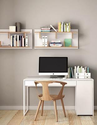 TemaHome Prado Minimalist Office Desk - Matt White Finish image 10