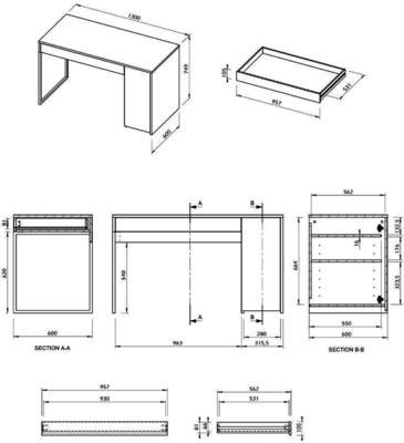 TemaHome Prado Minimalist Office Desk - Matt White Finish image 11