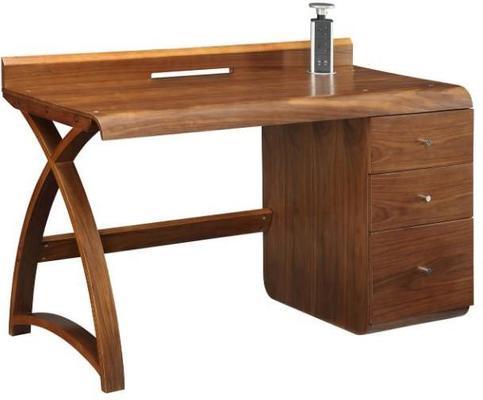 Jual Retro Modern Pedestal Desk 3 Drawers PC601 - Walnut