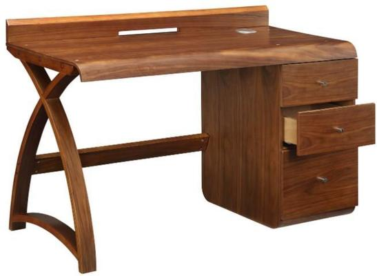 Jual Retro Modern Pedestal Desk 3 Drawers PC601 - Walnut image 5