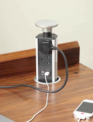 Jual Retro Modern Pedestal Desk 3 Drawers PC601 - Walnut image 6