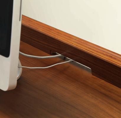 Jual Retro Modern Pedestal Desk 3 Drawers PC601 - Walnut image 7