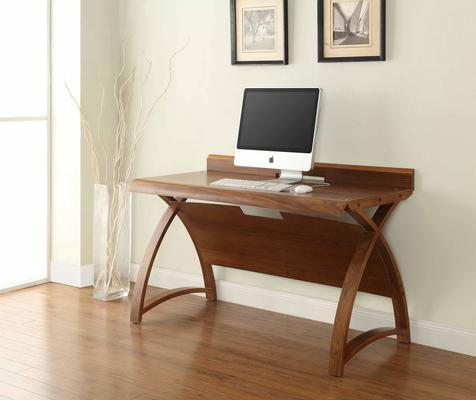 Jual Retro Laptop Table / Desk 130cm PC602 - Walnut image 2