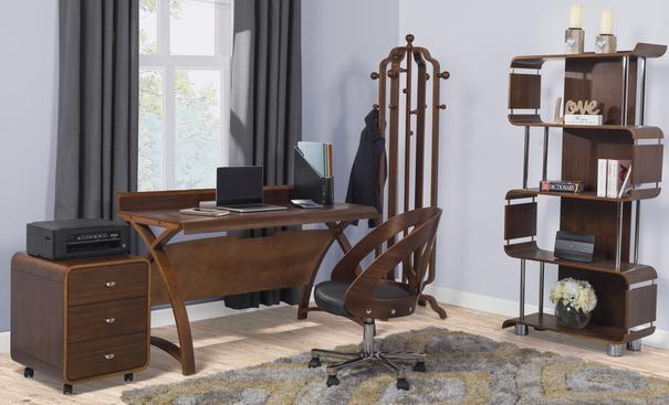 Jual Retro Laptop Table / Desk 130cm PC602 - Walnut image 5
