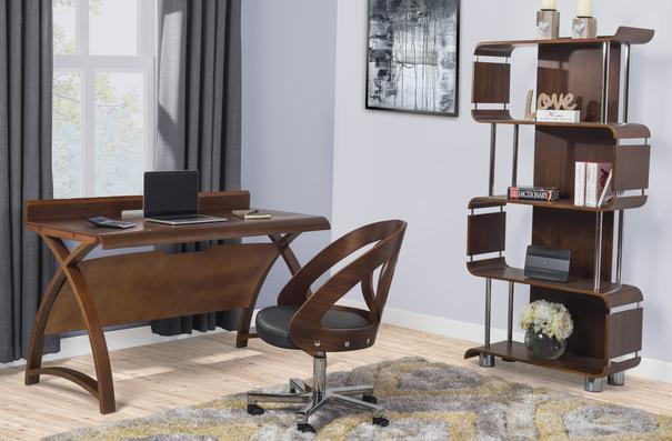 Jual Retro Laptop Table / Desk 130cm PC602 - Walnut image 7