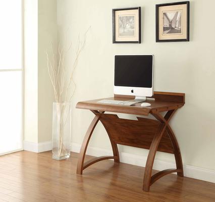 Jual Retro Wood Laptop Desk 90cm PC603 - Walnut image 2