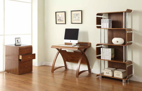 Jual Retro Wood Laptop Desk 90cm PC603 - Walnut image 3