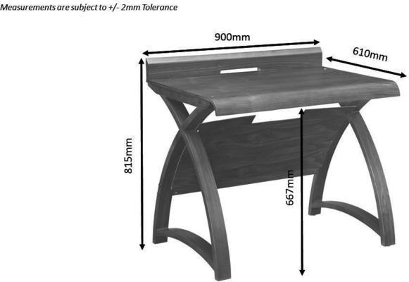 Jual Retro Wood Laptop Desk 90cm PC603 - Walnut image 4