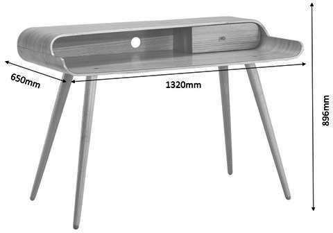 Jual Retro Tower Desk - Ash or White image 3