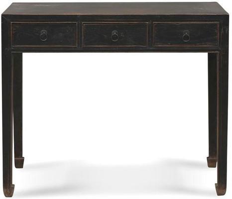 Shanxi Black Elm Desk, Chinese Antique image 2