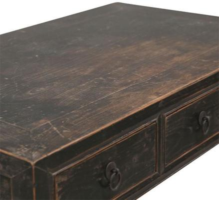 Shanxi Black Elm Desk, Chinese Antique image 3