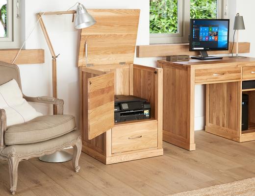 Mobel Solid Oak Modern Printer Cupboard