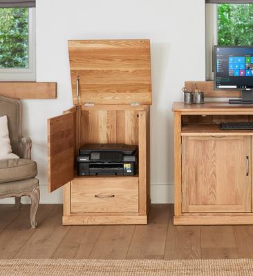 Mobel Solid Oak Modern Printer Cupboard image 3