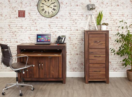 Mayan Walnut Hidden Home Office Desk