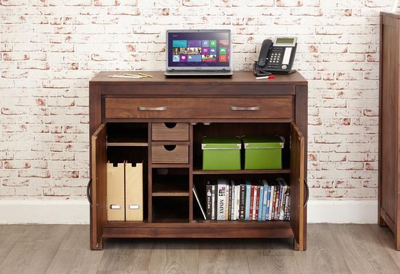 Mayan Walnut Hidden Home Office Desk image 2
