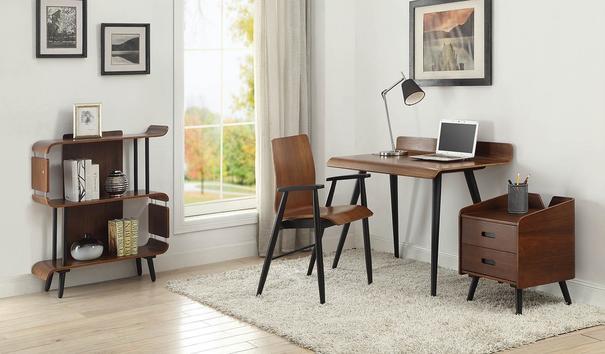 Jual Vienna Retro Desk PC607 Walnut 110cm image 3