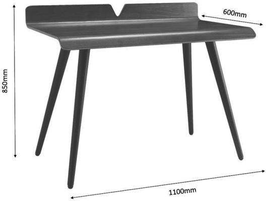 Jual Vienna Retro Desk PC607 Walnut 110cm image 4