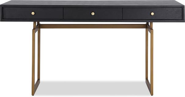 Hamilton Contemporary Desk Black Ash image 2