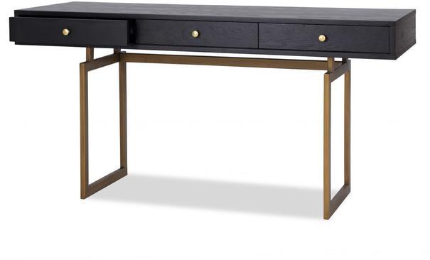 Hamilton Contemporary Desk Black Ash image 3