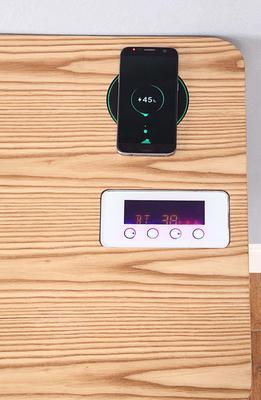 San Francisco Charging Oak Desk with Smart Speaker - PC709 image 6