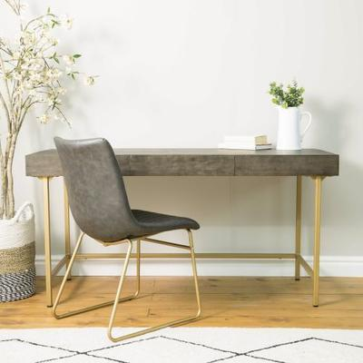 Fitzgerald Black And Gold Three Drawer Desk / Dressing Table image 2
