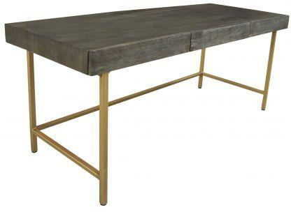 Fitzgerald Black And Gold Three Drawer Desk / Dressing Table image 3