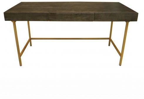 Fitzgerald Black And Gold Three Drawer Desk / Dressing Table image 5