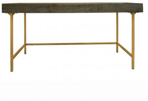 Fitzgerald Black And Gold Three Drawer Desk / Dressing Table image 6