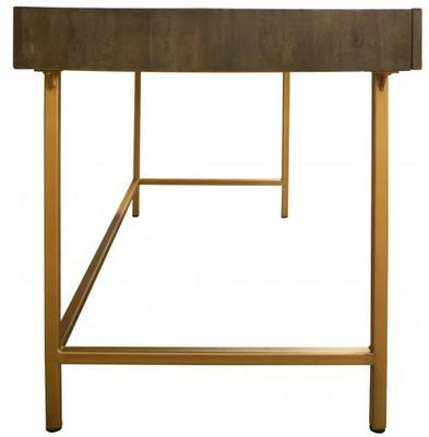 Fitzgerald Black And Gold Three Drawer Desk / Dressing Table image 7