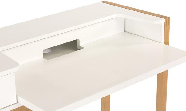 Farringdon laptop desk with drawer image 3
