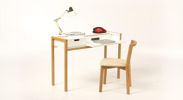 Farringdon laptop desk with drawer image 4