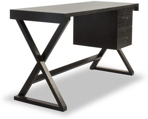 Manhattan Black Wenge Desk with 2 Drawers image 3