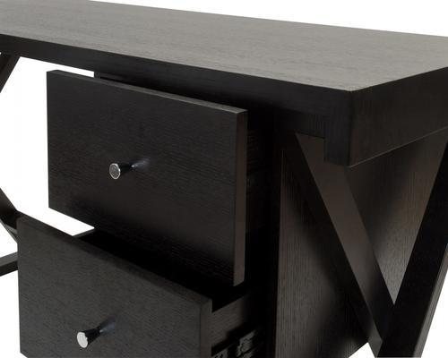 Manhattan Black Wenge Desk with 2 Drawers image 5