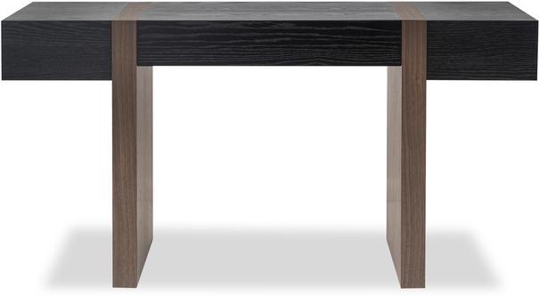 Borgo Black Wenge Oak and Walnut Desk image 2