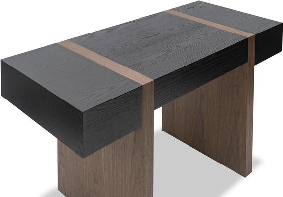Borgo Black Wenge Oak and Walnut Desk image 3