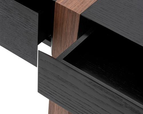 Borgo Black Wenge Oak and Walnut Desk image 4