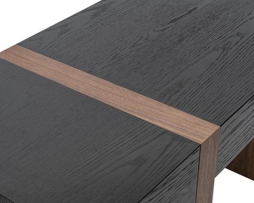 Borgo Black Wenge Oak and Walnut Desk image 5