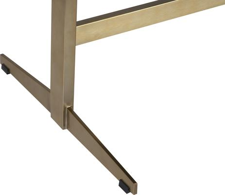 Omega Black Ash Desk One Drawer with Brass Frame image 6