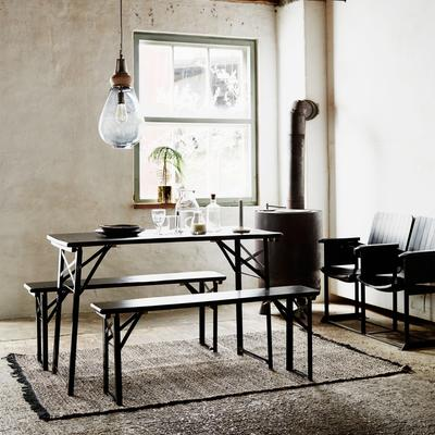 Folding Table and Bench Set Modern Design