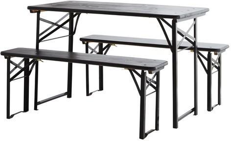 Folding Table and Bench Set Modern Design image 2