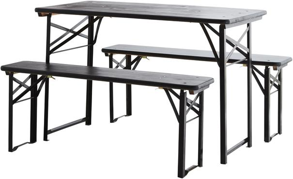 Folding Table and Bench Set Modern Design image 3