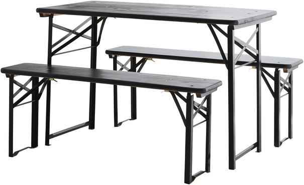 Folding Table and Bench Set Modern Design image 3