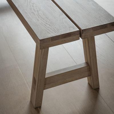 Kielder Oak Simple Wooden Bench image 3